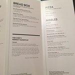 Sad room service menu