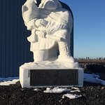 This guy came here & decided to name the island Iceland. Statue carved by a US soldier
