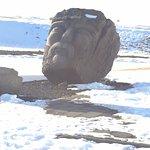 Viking Head statue