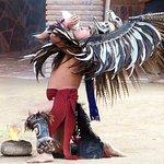 Aztec fire dance.
