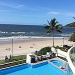 View of infinity pool and Noosa main beach from Unit 306