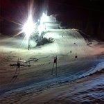 Floodlight skiing
