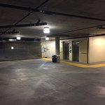 Underground Hote Parking Garage with Elevators