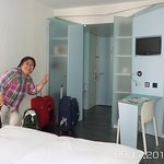 Our room at Hotel Cristal in Geneva, Switzerland