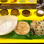 South Indian Combo Meal Serving on Banana Leaf was Awesome.