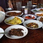 Variety of food at Lamun Ombak restaurant