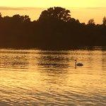 マッシュ湖夕暮れ
