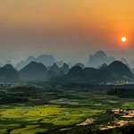 Yangshuo Countryside Sunet(The photo taken by february).