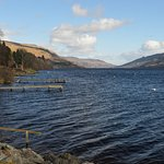 View of Loch Earn from the hotel car park.