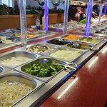 un buffet superbement mis en valeur