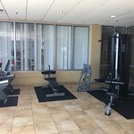 This is photos of the beautiful beach and the gym for the interested.
