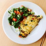 Fantastic Omelette at Blue Hill Cafe Bournemouth