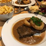 Friday lunch fish and chips  Saturday night dinner - tomato and roasted onion soup , muscles , r