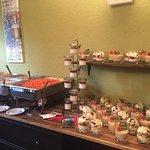 warmes Buffett und Dessert