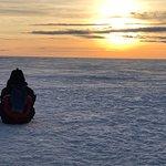 Atardecer en solitario sobre el Mar Báltico