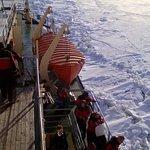 Viajando sobre el hielo