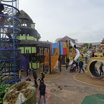The huge childrens play area
