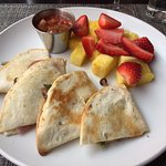 Veggie Quesadilla with fruit