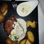 Presentation of a tasty steak