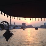 View from the Dhow Cruise of the Sheraton Dubai Creek.