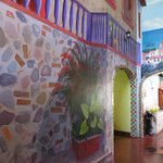 Common areas are decorated with awesome murals.