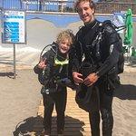 Eldstemann med dykkerinstruktørene, bl a Roberto. Kyndige og trygge👍🏼