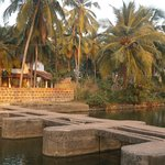 You cross this bridge to get to Kannur Beach House
