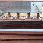 Model of the Titanic..