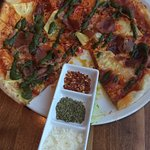 Smoked Prosciutto, Pineapple, Basil Pizza