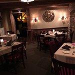 Rustic/elegant dining room seating