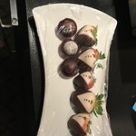 chocolate covered strawberries and truffles