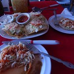Papusas and tostadas- great lunch