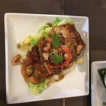 Pork dumplings, sleeping duck, chilli squid .. really was very good.