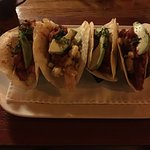 tacos with avocado and crab meat