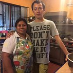 A couple of folks that make the delicious food at Casa Hamaca