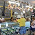 The deli and sandwich counter