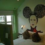 Hotel New Majestic - jedes Zimmer ein anderes Design; hier: grün