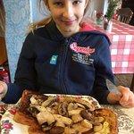 Hot garlicky mushrooms on toast - delicious.