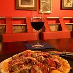 "New look Monkfield Arms - with my ""But her's Block"" pizza."