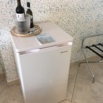Rooms have a small fridge.