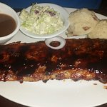 Baby back ribs (not fall off the bone tender)