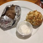 Single Crab Cake (lump crab meat) with baked potato