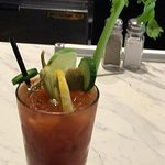 Great breakfast food moves fast the bartender makes awesome bloody Mary's. I ordered the chilaqu
