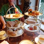 Sweet afternoon tea and savoury afternoon tea