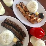 Special chicken and beef chelo kabab and yoghurt shake!