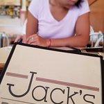 she stidies the menu carefully...