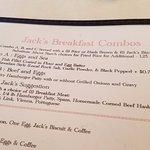 the menu...