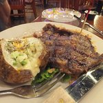 Prime Rib with Baked Potatos