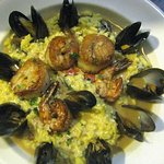 Scallops, Shrimp and Mussels Risotto entre' special.
