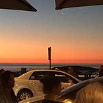 View of the sunset from my table at dinner